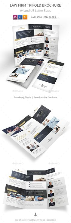 Real Estate Trifold Brochure Template, Brochures and Real estates - law firm brochure