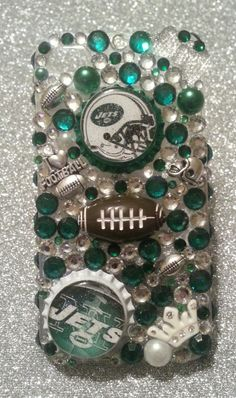 Bling New York Jets NFL phone case available in by Candycrystals21