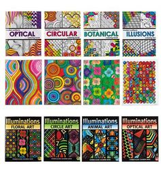 illuminations or modern patterns coloring books markers on hearthsongcom perfect for a - Modern Patterns Coloring Book