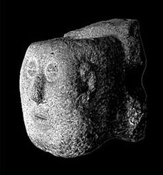 Castro de Armea. Figure 27. Severed head from Armea. Author's photograph.