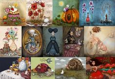 Monika Schoffmann Art (70 pieces) Collages, Jigsaw Puzzles, Artists, Painting, Painting Art, Paintings, Puzzle Games, Painted Canvas, Collage