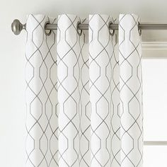 JCPenney Home Pasadena Embroidery Room Darkening Grommet-Top Curtain Panel Living Room Decor Curtains, Room Darkening Curtains, Elegant Curtains, Modern Curtains, Contemporary Curtains, Sheer Curtain Panels, Panel Curtains, Outdoor Drapes, Geometric Curtains