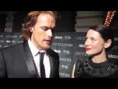 Outlander Tartan Carpet - Sam Heughan and Catriona Balfe - YouTube
