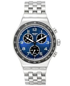 Swatch Men s Boxengasse Swiss Chronograph Tech Mode Stainless Steel  Bracelet Watch 42mm YVS423G 1dc6fb7b4f
