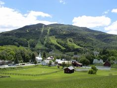 VERMONT ~ The village of Brownsville, in the Town of West Windsor with Mt. Ascutney beyond. Pretty little village.