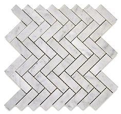 hearing bone masterbath tile | Topic: Carrara Marble Stone Mosaic Tile (Hex & Herringbone)