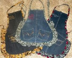 DIY Turn old jeans to aprons! by linda.v.hasty