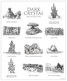 Revisiting geeky architecture with the Dark Crystal Dark Castle, Tree Stencil, Arte Dc Comics, Drawing Journal, Fantasy City, The Dark Crystal, Old Maps, Renaissance, Fantasy Landscape
