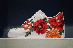 Nike Air Force 1 Flowerbomb With Flower Embroidery Gucci Ace Inspired | HYPEBEAST