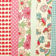 NEW FABRIC Apples & Mushrooms stripes by Holland Fabric House, via Flickr