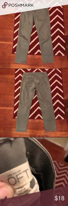 Loft chinos grey size 0 Great condition great size 0 ankle length chino LOFT Pants Ankle & Cropped