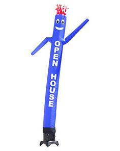 LookOurWay Air Dancer Tube Man OPEN HOUSE Fly Guy Puppet Complete Set with 13HP Sky Dancer Blower 10Feet Blue ** You can get additional details at the image link. (This is an Amazon affiliate link)