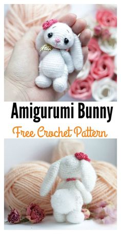 Crochet Amigurumi Bunny Free Pattern   Look how little and adorable it is!