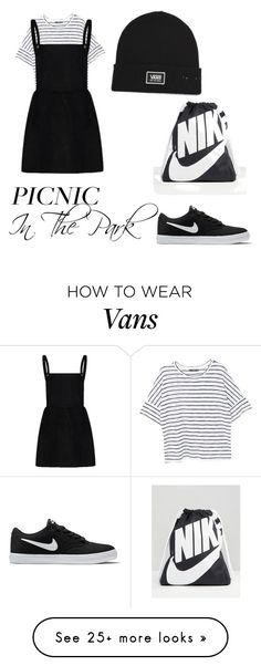 """""""Outfit for a picnic"""" by mikaylap0107 on Polyvore featuring MANGO, NIKE and Vans"""