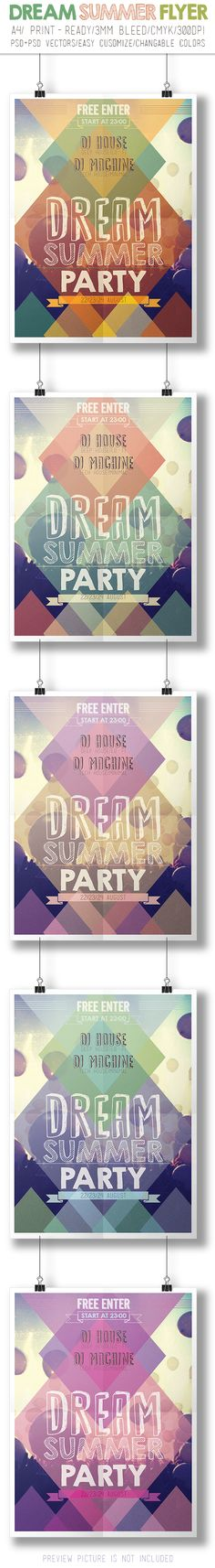 Summer Party Flyer by crew55design, via Behance