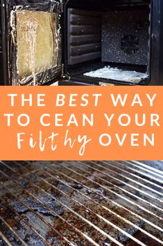 The BEST Way To Clean An Oven (It's SO Easy!) - Expert Home Tips Natural Oven Cleaning, Oven Cleaning Hacks, Self Cleaning Ovens, Diy Home Cleaning, Homemade Cleaning Products, Household Cleaning Tips, Deep Cleaning Tips, House Cleaning Tips, Cleaning Solutions
