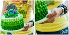 Deliciously Darling   Teenage Mutant Ninja Turtle Birthday Party   Cake & Nail Art