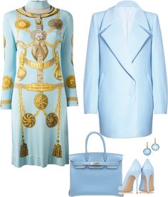 Hermés Vintage Harness Print Dress