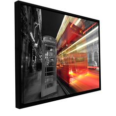 'London III' by Revolver Ocelot Floater Framed Photographic Print Gallery-Wrapped on Canvas