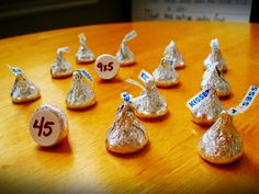How about a game of Hershey Kiss Memory Math game?  Match the answer to the problem.