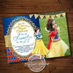 Snow White Snow White Invitations Seven by MyCelebrationShoppe