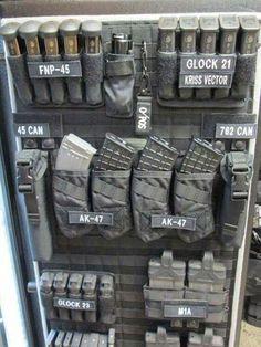 That's a good storage idea Airsoft Guns, Airsoft Field, Gun Safes, Tactical Gear, Tactical Equipment, Tactical Life, Safe Door, Wall Safe, Gun Safe Room
