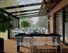 dom jednorodzinny - Taras, styl nowoczesny - zdjęcie od TK Architekci