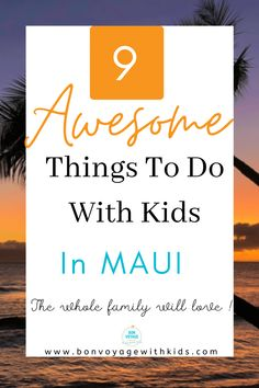 Whether you are heading to Maui soon or looking for a bucket list trip, the Valley Isle isn't just for honeymooners. There are so many things to do with kids! Click through for 9 awesome activities to do with kids they whole family will love! Adventures in Maui with kids. Things to do with kids in Maui. Things to do in Maui. Things to see in Maui. Maui family. #thingstodoinmaui #thingstodowithkidsinmaui #mauiactivities #familyactivitiesinmaui #adventuresinmaui #mauiwithkids #familytravel… I Want To Travel, Travel With Kids, Family Travel, Family Trips, Travel Guides, Travel Tips, Travel Destinations, Travel Essentials, Hawaii Travel