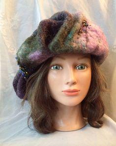 2219ce8767c Nunofelt wool felted hat designer warm one of kind