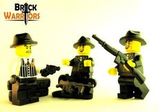 "When your gangster minifig and his gangster buddies hang out, it's almost guaranteed guns will be drawn. In a completely calm and civilized matter of course. What better weapon to ""share"" with your buddies than the Gangster Rifle, a classic gun straight out of the 1920s.Make sure your minifig and his pals have their matching Fedoras and a couple other great gangster guns like the Snub Nose Revolver and Tommy Gun. #Lego #Minifigure #BrickWarriors #toys #LegoGun #LegoAccessories #MinifigureGun…"