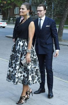 King Carl Gustaf Queen Silvia, Crown Princess Victoria and Prince Daniel attended the celebrations of Swedish Radio's 90 th anniversary held at Berwald Concert Hall in Stockholm, Sweden on August 21, 2015.