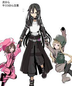 Sinon Ggo, Gun Gale Online, Kirito Asuna, Sword Art Online Kirito, Anime Military, Accel World, Anime Nerd, Baguio, Otaku
