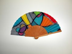 Painted Fan, Hand Painted, Watercolor Bookmarks, Hand Fan, Leather Case, One Pic, Summer Wedding, Bridesmaids, Art Pieces