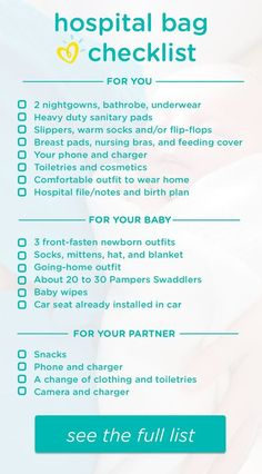 This hospital bag checklist helps you know what to pack to be prepared for your delivery day. Get ready to welcome your new baby with this helpful packing list for mom-to-be—including essential items for you, your newborn baby girl or boy, and your partner to help make the hospital stay more comfortable and your big trip home easier.