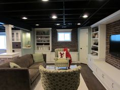 Our basement  - love the closet in the corner with all the built ins.