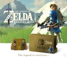 Nintendo Switch, Zelda : The Breath Of The Wild, Collector edition. joycon, nintendo switch, dock, joy-con