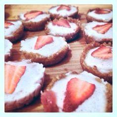 Vegan gluten free strawberries and cream pies
