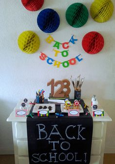 Back to School Dessert-Table made by me