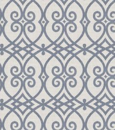 Home Decor  Print Fabric- Jaclyn Smith Gatework Rot Indigo