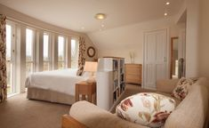 Bedroom 2, can be a super king or twin beds. In addition the sofa can be made up as 2 additional single beds.