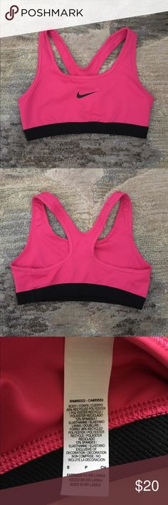 Nike bra, pink, size small Nike did-fit bra, pink, size small, great condition, like new, comfortable, racerback, compression fit with medium support, band underneath bust Nike Intimates & Sleepwear Bras
