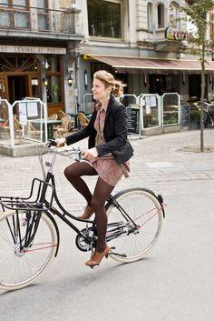 Wow die fiets & die schoenen!