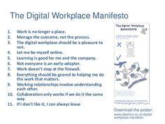 Digital Workplace Manifesto