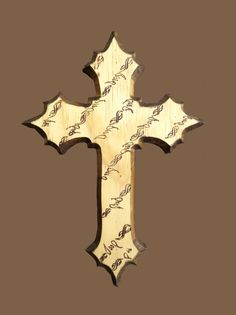 Cross with Barbed Wire Motif ~ NBWC001