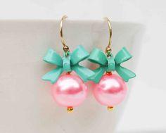 Cute earrings by redtruckdesigns on Etsy.  IN STOCK $ 22.50