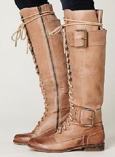 soft, leather, lacing, buckles... relaxed riding boot