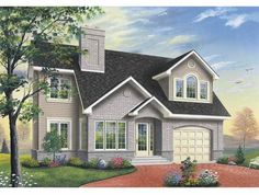European House Plan with 2185 Square Feet and 3 Bedrooms(s) from Dream Home Source | House Plan Code DHSW65563