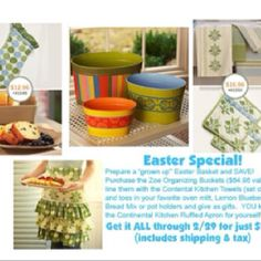 I've packaged together a few of my favorite things for my home and Easter gift giving into a great package for YOU! You can save 40% on all the items pictured if you order by 2/29! Email me at eckosha@aol.com or call/text me at (812) 371-8438 to get the deal!
