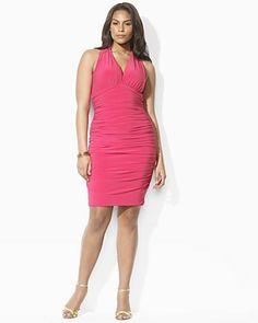 2c15685892f Lauren by Ralph Lauren Dress Plus Ruched Halter Dress