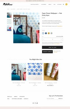 The Shopify product pages Aeolidia designed for Metolius give customers the option to order samples New Wallpaper, Flower Wallpaper, Ecommerce Web Design, Website Design Inspiration, Designer Wallpaper, Paper Flowers, Creative, Projects, Home Decor